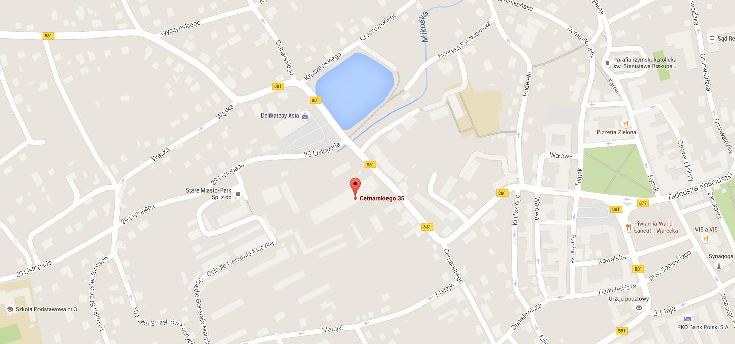 Mapa Maxkuchnie.pl