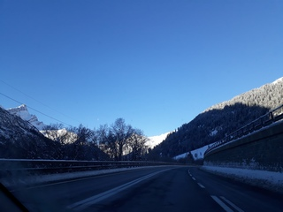 Winter in Liechtenstein mountains